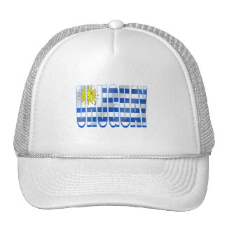 Uruguay flag logo emblem La celeste gifts Trucker Hat