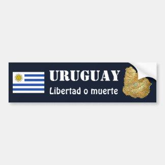 Uruguay Flag + Map Bumper Sticker