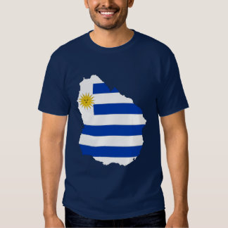 Uruguay Flag Map T-shirt