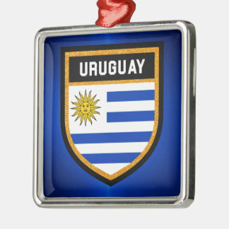Uruguay  Flag Metal Ornament