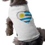 Uruguay flag pet tee