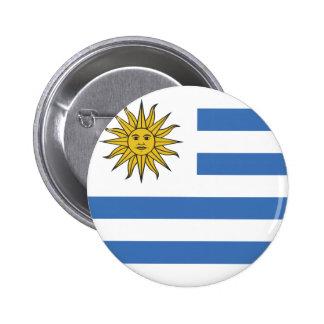 Uruguay Flag Pinback Button