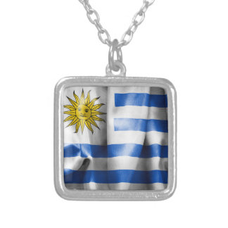 Uruguay Flag Silver Plated Necklace