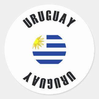 Uruguay Flag Simple Classic Round Sticker