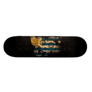 Uruguay Flag Custom Skate Board