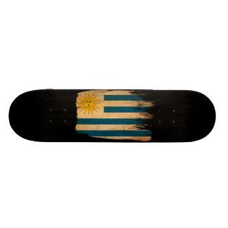 Uruguay Flag Skate Board