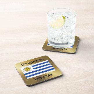 Uruguay Flag+Text Coaster