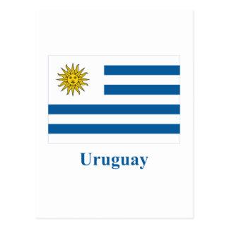 Uruguay Flag with Name Postcard