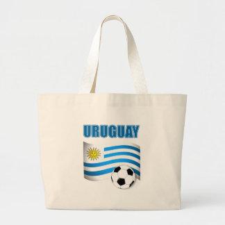 Uruguay Football T-shirts Large Tote Bag