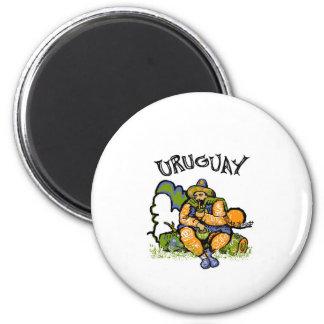 URUGUAY Gaucho 2 Inch Round Magnet
