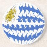 Uruguay Gnarly Flag Drink Coaster