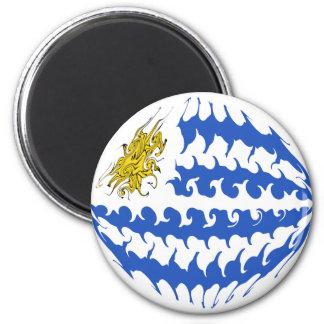 Uruguay Gnarly Flag Magnet