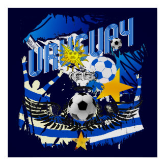 Uruguay grunge graphic art soccer futbol gifts poster