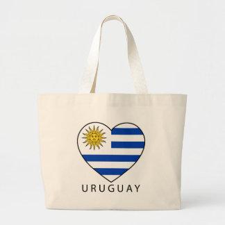 Uruguay Heart black URUGUAY Canvas Bag