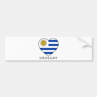 Uruguay Heart black URUGUAY Bumper Sticker