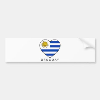 Uruguay Heart black URUGUAY Bumper Stickers