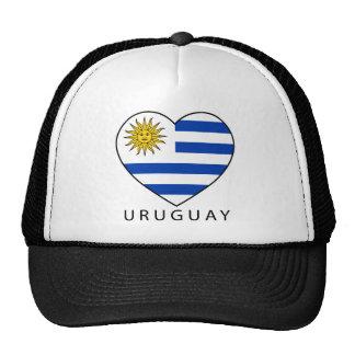 Uruguay Heart black URUGUAY Trucker Hats