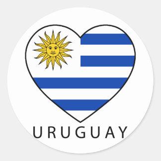 Uruguay Heart black URUGUAY Stickers