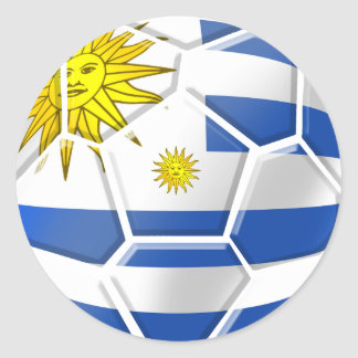 Uruguay La Celeste Uruguayan soccer fans gifts Classic Round Sticker
