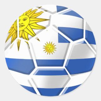 Uruguay La Celeste Uruguayan soccer fans gifts Round Sticker