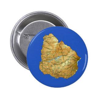 Uruguay Map Button