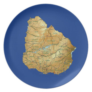 Uruguay Map Plate
