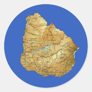 Uruguay Map Sticker