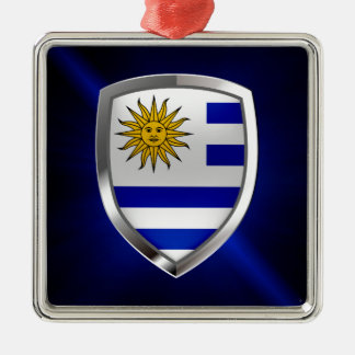 Uruguay Metallic Emblem Metal Ornament