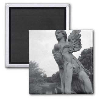 Uruguay, Montevideo, Barrio Prado, mythological 2 Inch Square Magnet