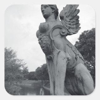 Uruguay, Montevideo, Barrio Prado, mythological Square Sticker