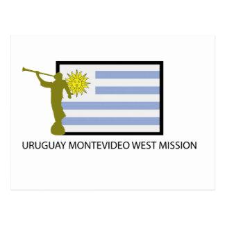 URUGUAY MONTEVIDEO WEST VIDEO LDS CTR POSTCARD