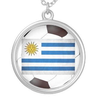 Uruguay National Flag Round Pendant Necklace
