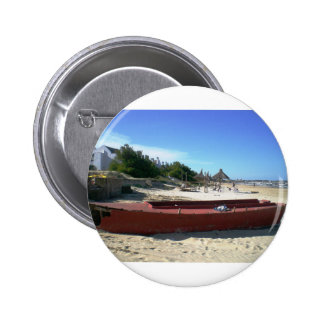 Uruguay Old Red Boat 2 Inch Round Button