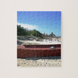 Uruguay Old Red Boat Jigsaw Puzzle