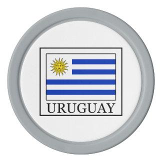 Uruguay Poker Chips Set