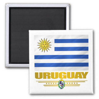"""Uruguay Pride"" 2 Inch Square Magnet"