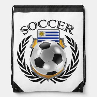 Uruguay Soccer 2016 Fan Gear Drawstring Backpack