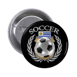 Uruguay Soccer 2016 Fan Gear Pinback Button