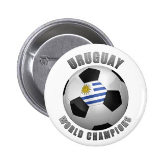 URUGUAY SOCCER CHAMPIONS PINBACK BUTTONS