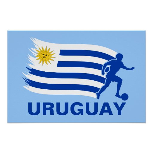 Uruguay Soccer Flag Posters