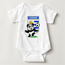 Baby Jersey Bodysuit with Uruguay Football Panda design