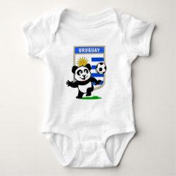 Baby Jersey Bodysuit with Uruguay Football Panda design