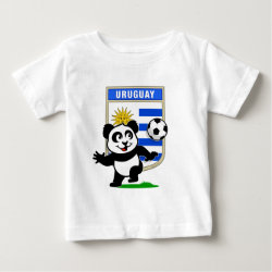 Baby Fine Jersey T-Shirt with Uruguay Football Panda design
