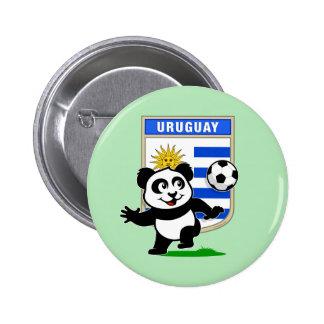 Uruguay Soccer Panda Pin