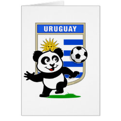 Greeting Card with Uruguay Football Panda design
