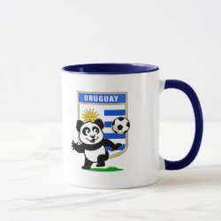 Combo Mug with Uruguay Football Panda design