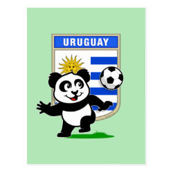 Postcard with Uruguay Football Panda design
