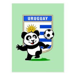 Postcard with Uruguay Football Panda design