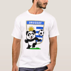 Men's Basic T-Shirt with Uruguay Football Panda design