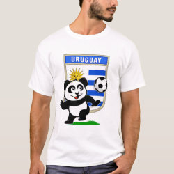 Men's Basic T-Shirt with Uruguay Football Panda design